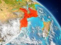 Mozambique de la órbita ilustración del vector