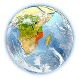 Mozambique on Earth isolated Royalty Free Stock Photo