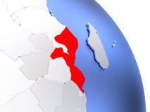 Mozambique on elegant globe Stock Images