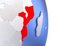 Mozambique on elegant modern 3D globe Stock Photo