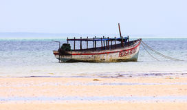 Mozambique fishing boat Royalty Free Stock Images