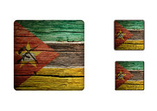 Mozambique Flag Buttons Stock Photo