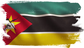 Mozambique Flag. With fabric texture. 3D illustration Royalty Free Stock Image