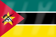Mozambique Flag. The flag of the African country of Mozambique Stock Photography