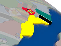 Mozambique with flag Stock Images