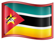 Mozambique Flag Icon Royalty Free Stock Images