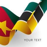 Mozambique flag. Patriotic design. Vector illustration. Mozambique flag. Patriotic design. Waving flag Stock Images