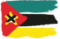 Mozambique Flag Vector Hand Painted with Rounded Brush Royalty Free Stock Photography