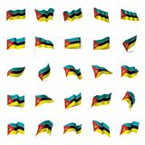 Mozambique flag, vector illustration. On a white background Royalty Free Stock Photo