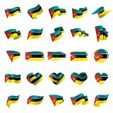 Mozambique flag, vector illustration. On a white background Stock Photography