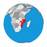 Mozambique on globe Royalty Free Stock Photo