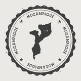 Mozambique hipster round rubber stamp with. Stock Photos