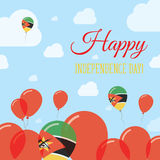 Mozambique Independence Day Flat Patriotic Design. Mozambican Flag Balloons. Happy National Day Vector Card Royalty Free Stock Photos
