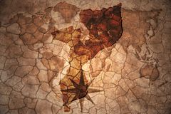 Vintage mozambique map. Mozambique map on vintage crack paper background Royalty Free Stock Photo