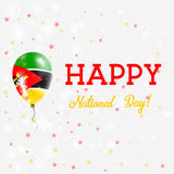 Mozambique National Day patriotic poster. Flying Rubber Balloon in Colors of the Mozambican Flag. Mozambique National Day background with Balloon, Confetti Royalty Free Stock Photos