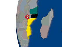 Mozambique with national flag Royalty Free Stock Photo