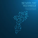 Mozambique network map. Stock Photography