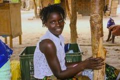 MOZAMBIQUE, NOVEMBER 5: Aboriginal beautiful girl. November 5, 2007, Mozambique Royalty Free Stock Image