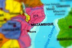 Republic of Mozambique. Mozambique, officially the Republic of Mozambique selective focus Stock Photography