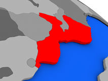 Mozambique in red Stock Photography
