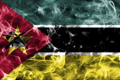 Mozambique smoke flag. Isolated on a black background Stock Images