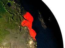 Mozambique from space Stock Images