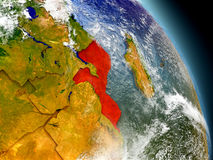 Mozambique from space Royalty Free Stock Images