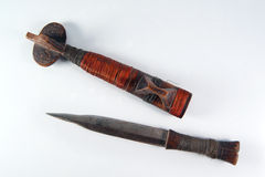 Mozambique traditional ancient dagger Stock Photography