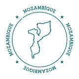 Mozambique vector map. Retro vintage insignia with country map. Distressed visa stamp with Mozambique text wrapped around a circle and stars. USA state map Royalty Free Stock Image
