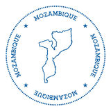 Mozambique vector map sticker. Royalty Free Stock Images