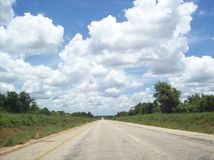 Mozambique vlak na Zuidafrikaanse grens Stock Fotografie