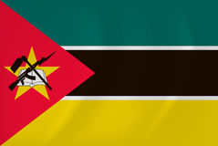 Mozambique waving flag. Vector image of the Mozambique waving flag Royalty Free Stock Photos
