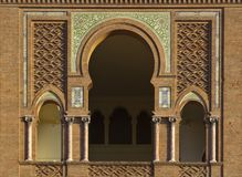 Mozarabic Arch in Las Ventas Stock Photos
