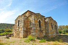 The mozarabic basilica of Trampal in Alcuescar. Spain Stock Image