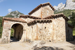 Mozarabic church of Saint Mary de Lebeña (Spain) Royalty Free Stock Photos