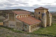 Mozarabic klooster van San Miguel de Escalada in Leon Stock Foto