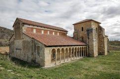 Mozarabic klooster van San Miguel de Escalada in Leon Royalty-vrije Stock Fotografie