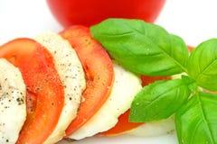 Mozarela del tomate Imágenes de archivo libres de regalías
