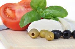 Mozarella cheese isolated on white Royalty Free Stock Photo