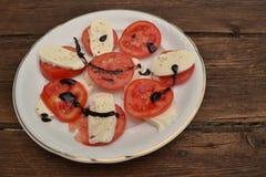 Mozarella met tomaten Royalty-vrije Stock Fotografie