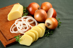 Mozarella and Onion Royalty Free Stock Photography