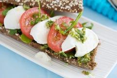Mozarella sandwich Royalty Free Stock Image