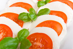 Mozarella with tomato Royalty Free Stock Image