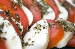 Mozarella und Tomaten Stockfoto