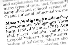 Mozart Stock Images