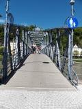 Mozart Bridge à Salzbourg Autriche photographie stock libre de droits