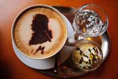 Mozart coffee Art Royalty Free Stock Images