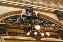 Mozart Hall på det Teatro kolonet arkivfoton