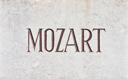 MOZART Letters Stock Photos