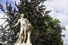 Mozart Memorial i Burggarten, Wien Royaltyfria Foton